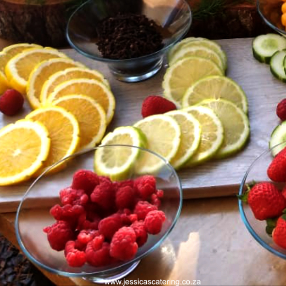 Jessicas Catering - Professional Catering to the Southern Suburbs Cape Town Header Fresh Fruit & Drinks Platter Menu square
